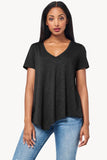 Short Sleeve V-Neck in Black