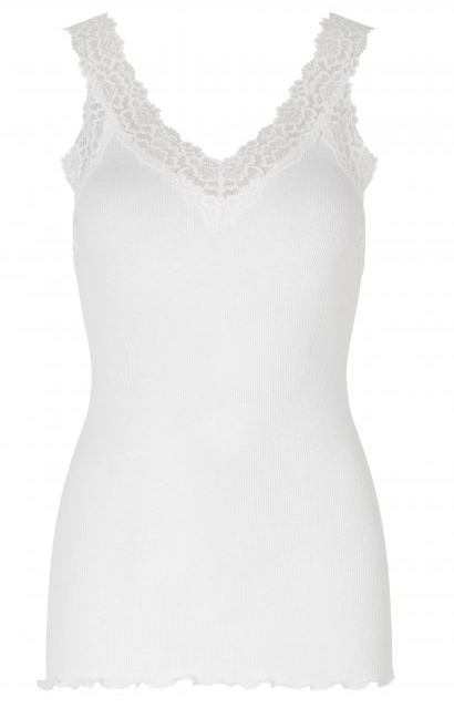 Bernadine Organic Cotton V-Neck Top in White