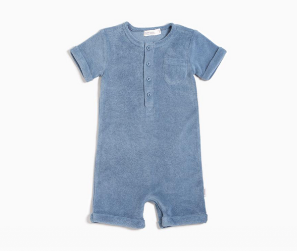 Baby Boy Candy Sky Terry Cloth Romper