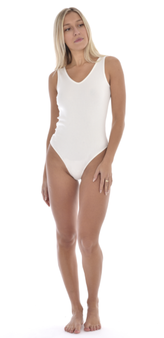 Aria Bodysuit in Warm White