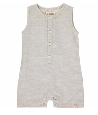 The Sandy Playsuit In Pale Grey