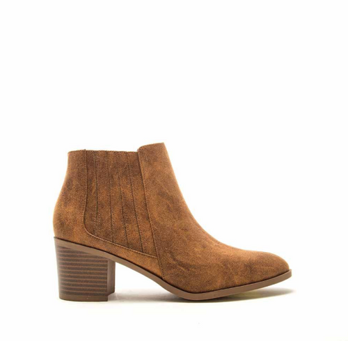 Chelsea Booties in Camel