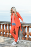 Belted Blazer in Cantaloupe