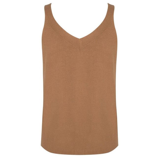 Button Down Camisole in Camel