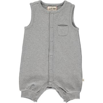 Pablo Ribbed Playsuit In Grey