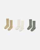 Knee Socks | Almond, Natural + Fern