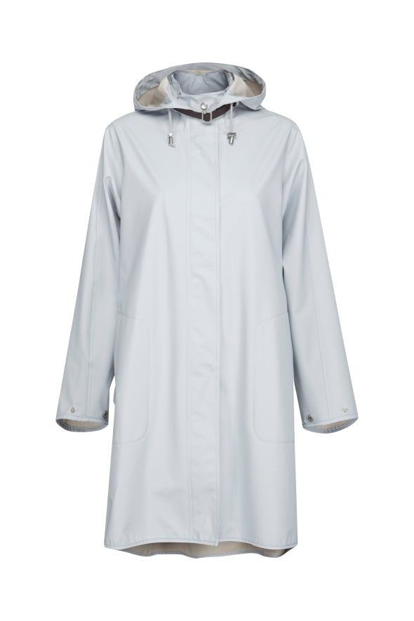 A-Line Raincoat in Light Blue