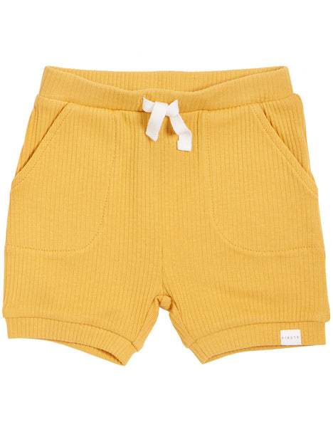 Ribbed Short In Gold
