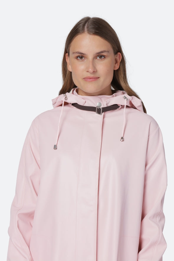 A-Line Raincoat in Light Pink