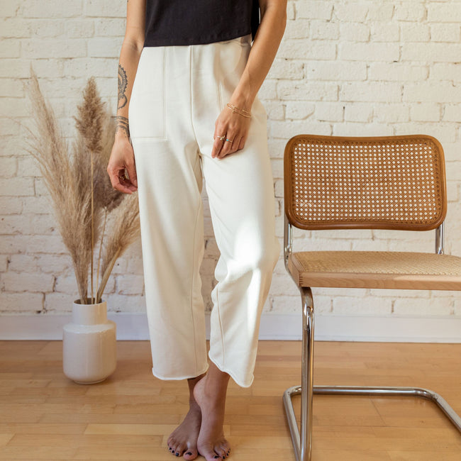Benji Cropped Pant in Natural