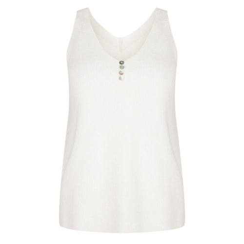 Button Down Camisole in Ivory