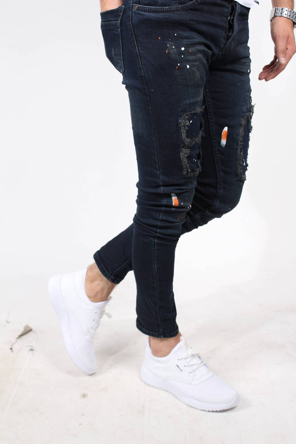BACKSPACE 589 SLIM FIT LIKRALI KOT PANTOLON-LACIVERT