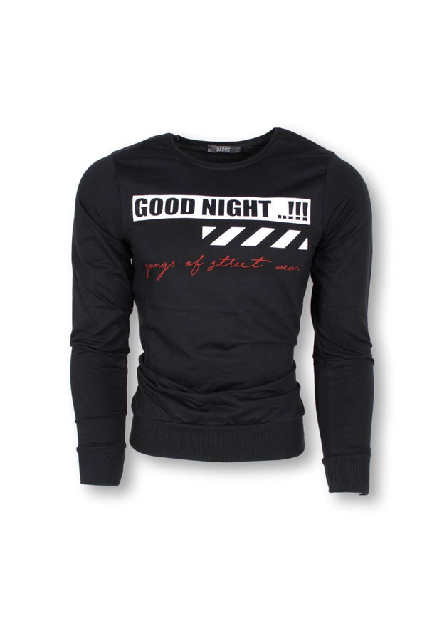 HILTI GOOD NIGHT EXTRA SLIM FIT SWEATSHIRT-SIYAH