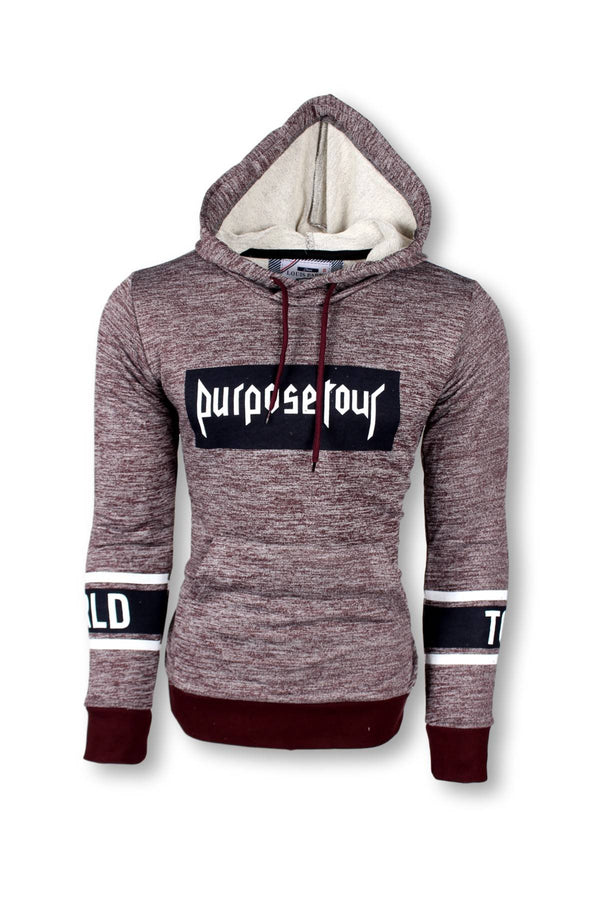 LOUIS PURPOSE DAR KESIM LIKRALI POLAR SWEATSHIRT-BORDO