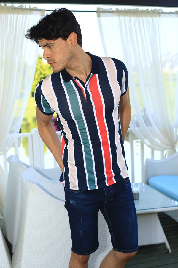 Oksit Louis 19LY111 Slim Fit Erkek Polo Yaka Tshirt