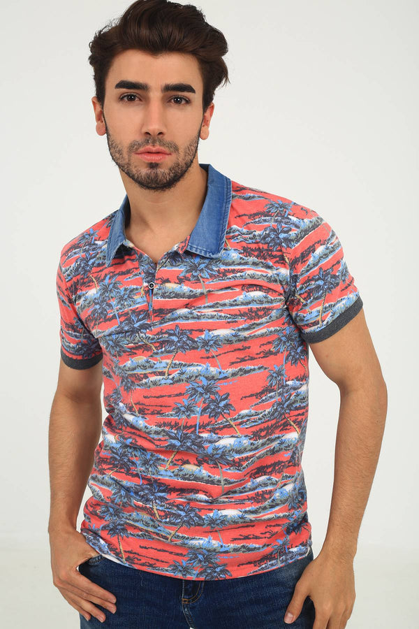 Oksit Louis 19LY162 Slim Fit Erkek Polo Yaka Tshirt
