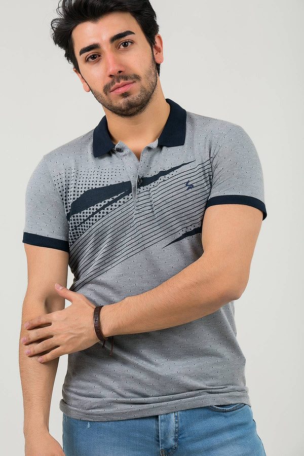 Oksit Louis 19LY420 Slim Fit Likrali Erkek Polo Yaka Tshirt