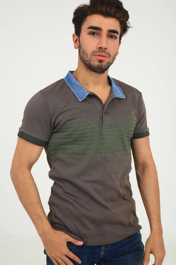Oksit Louis 19LY421 Slim Fit Erkek Polo Yaka Tshirt