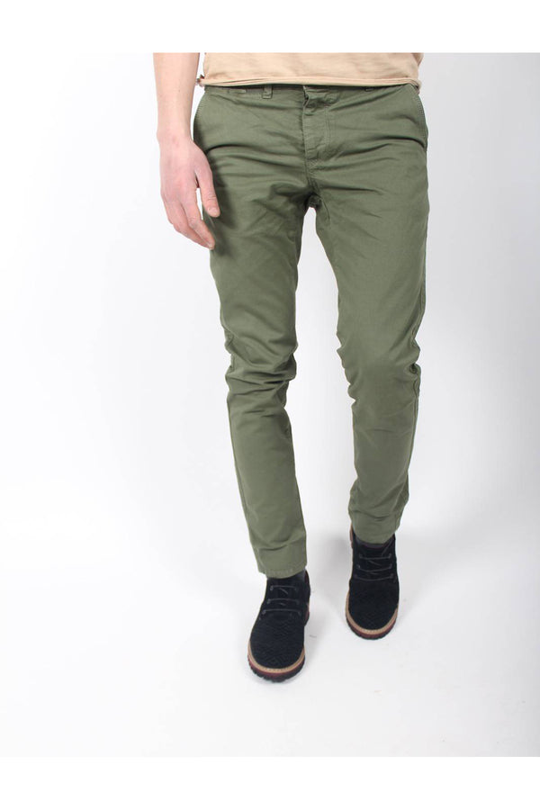 OLD TIME SLIM KETEN CHINO-YESIL