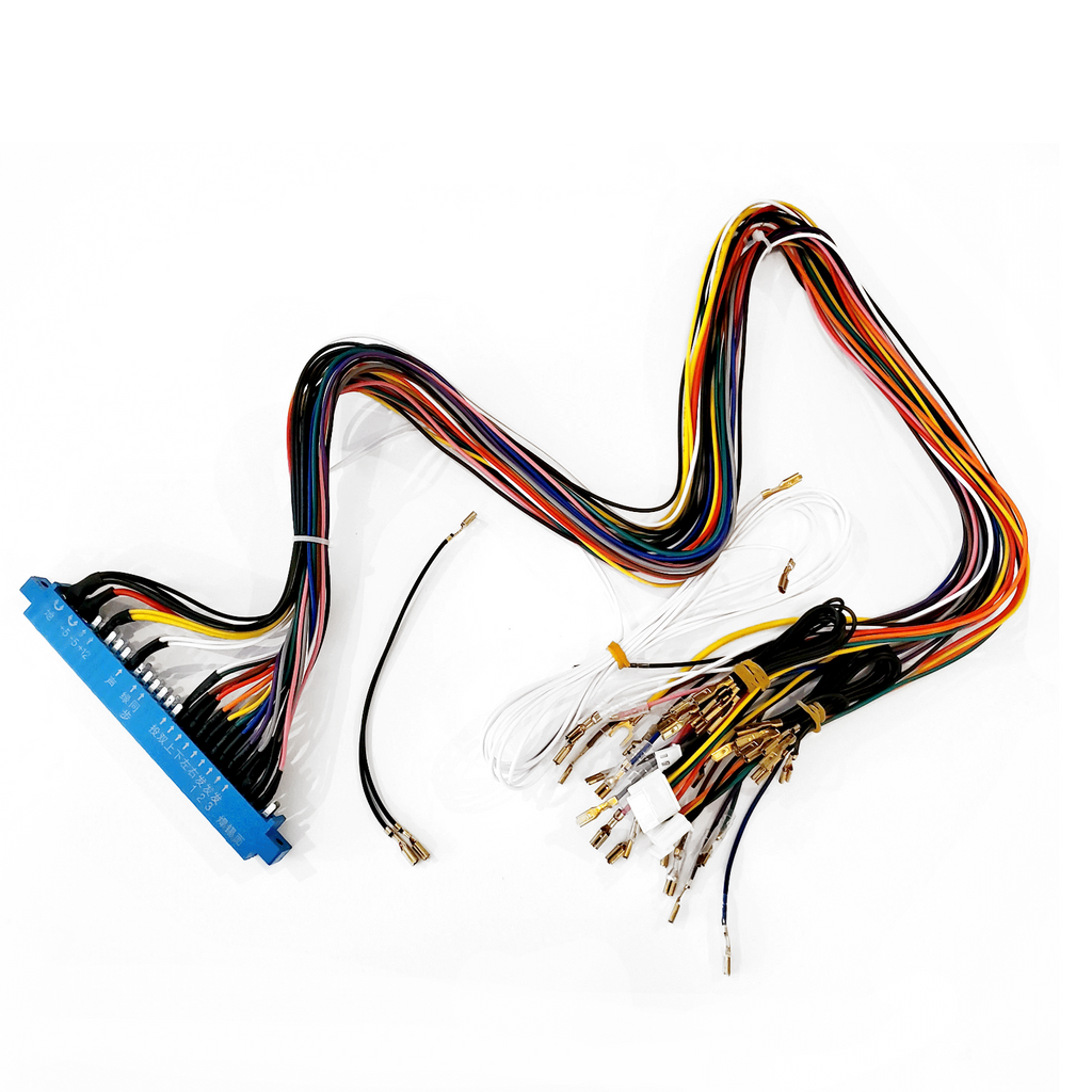 80cm Jamma Wiring Harness, with 5 pin Joystick & 2.8MM Connectors