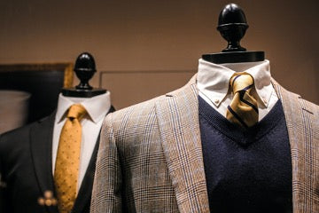 Mannequin tops in business suits