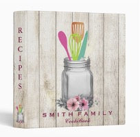A book with print a jar with kitchen utensils and the inscription