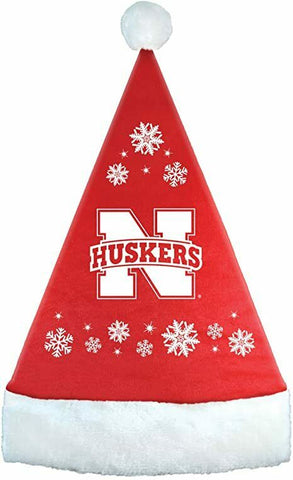 NEBRASKA CORNHUSKERS NCAA Full Embroidered Snowflake Christmas Santa Hat
