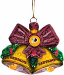 WASHINGTON REDSKINS NFL Glitter Bells Christmas Ornament