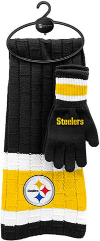 PITTSBURGH STEELERS NFL Knit Scarf & Gloves Set