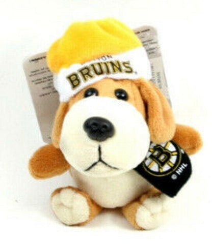 BOSTON BRUINS NHL 4 inch Plush Dog Christmas Ornament