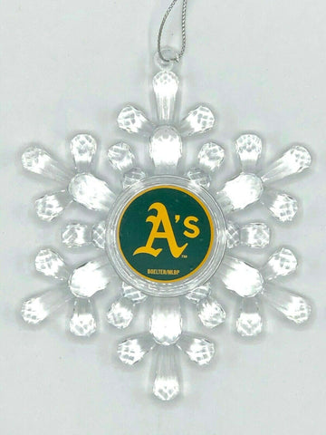 OAKLAND ATHLETICS MLB Traditional Acrylic Snowflake Christmas Ornament