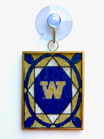 WASHINGTON HUSKIES NCAA Stained Glass Christmas Ornament & Suncatcher