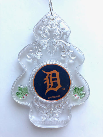 DETROIT TIGERS MLB Acrylic Christmas Tree Ornament