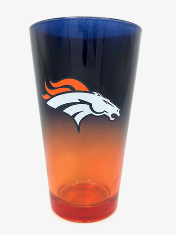 DENVER BRONCOS NFL 2-Tone Pint Glass, 16 oz
