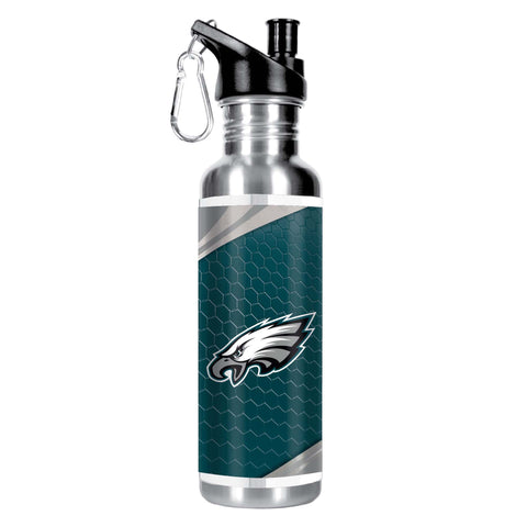 PHILADELPHIA EAGLES Stainless Steel Water Bottle w/ Metallic Graphics, 26 oz