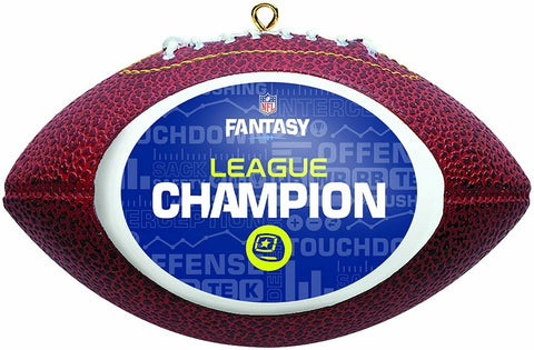 "NFL Fantasy Football ""League Champion"" Replica Football Christmas Ornament"