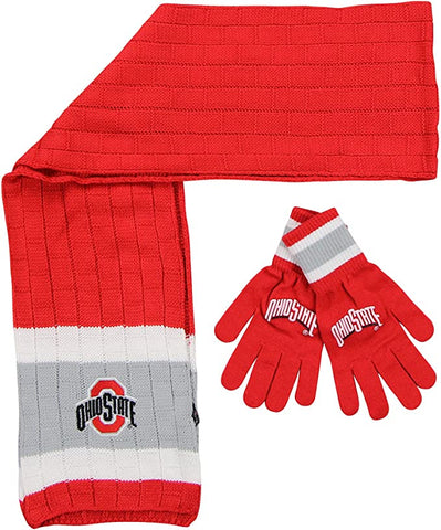 OHIO STATE BUCKEYES NCAA Knit Scarf & Gloves Set