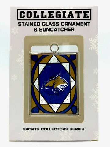 MONTANA STATE BOBCATS NCAA Stained Glass Christmas Ornament and Suncatcher