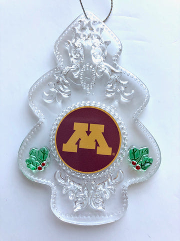 MINNESOTA GOPHERS NCAA Acrylic Christmas Tree Ornament