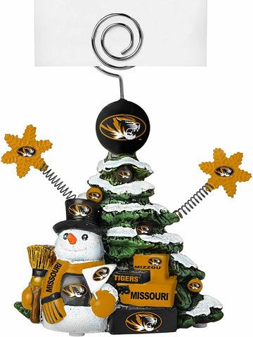 MISSOURI TIGERS NCAA Christmas Tree Photo Holder with Snowman