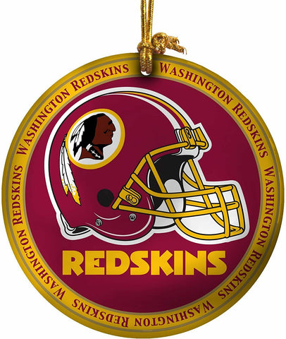 WASHINGTON REDSKINS NFL Mini Ceramic Plate Christmas Ornament