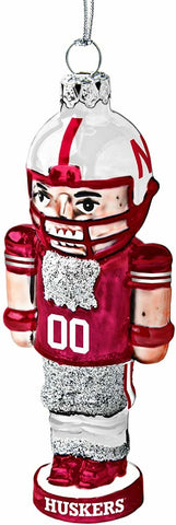 NEBRASKA CORNHUSKERS NCAA Football Player Nutcracker Christmas Ornament