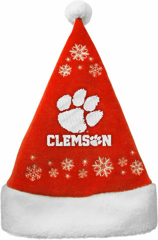 CLEMSON TIGERS NCAA Full Embroidered Snowflake Christmas Santa Hat