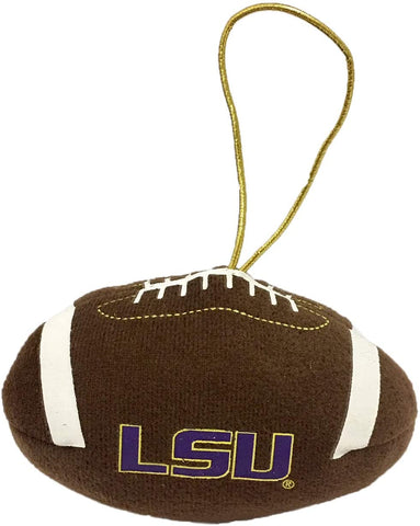 LSU TIGERS NCAA Plush Football Ornament