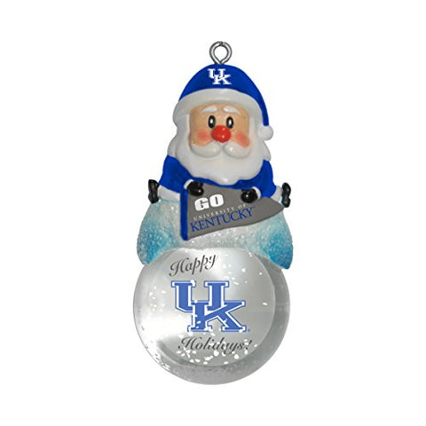 KENTUCKY WILDCATS NCAA Snow Globe Santa Ornament