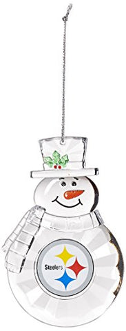 PITTSBURGH STEELERS NFL Traditional Acrylic Snowman Ornament