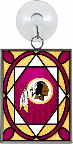 WASHINGTON REDSKINS NFL Stained Glass Christmas Ornament & Suncatcher