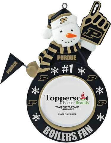 PURDUE BOILERMAKERS NCAA Snowman Photo Frame Christmas Ornament