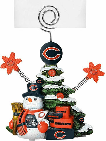 CHICAGO BEARS NFL Christmas Tree Photo Holder with Snowman
