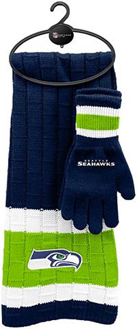 SEATTLE SEAHAWKS NFL Knit Scarf & Gloves Set